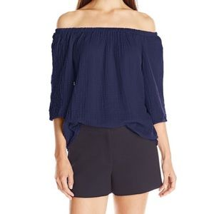 NWT Michael Stars Off The Shoulder Double Gauze